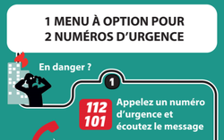 Appel 112 et 101 - Menu à option