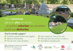 Enherbement des allées du cimetière à Nonceveux
