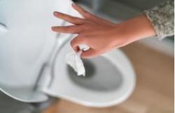 Les déchets de salle de bain n'ont pas besoin d'un bain !