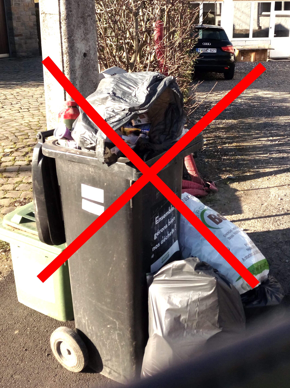 Mauvaise utilisation des conteneurs