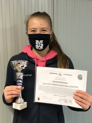 Marie Peeter accessit d'honneur Mérite sportif 2019