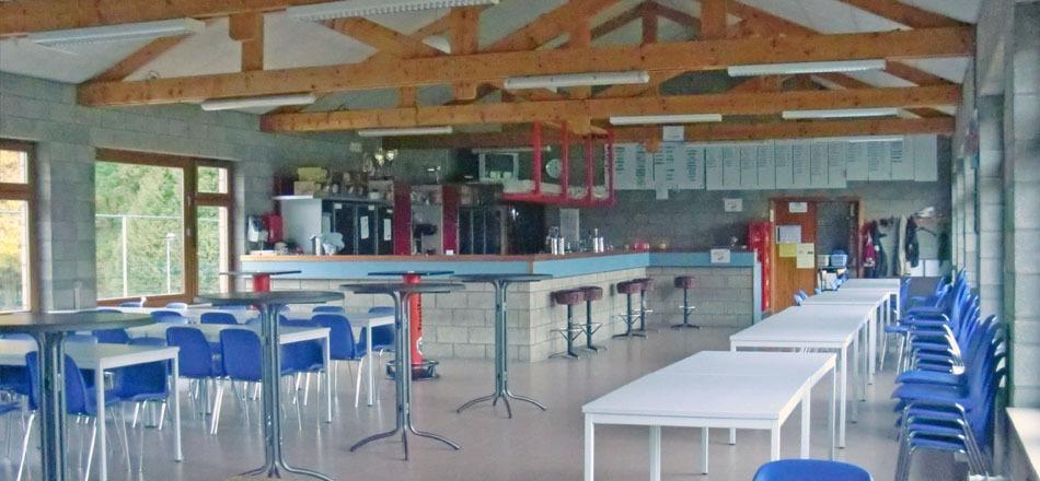 Cafétéria du complexe de la Porallée