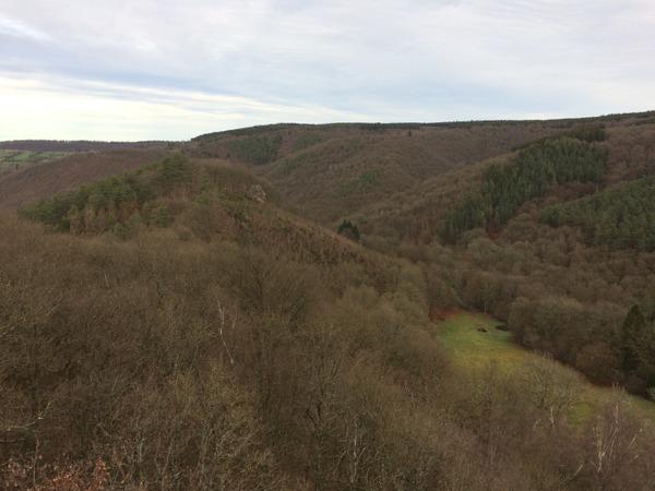 Vue sur les Roches Crahay depuis le point de vue Drouet